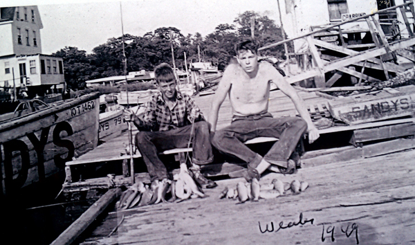 The Way It Was - 1949 - PBBA Member on dock